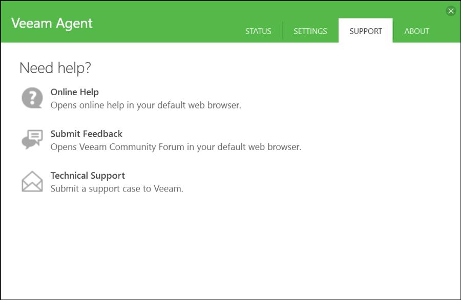 Veeam Agent for Windows 16